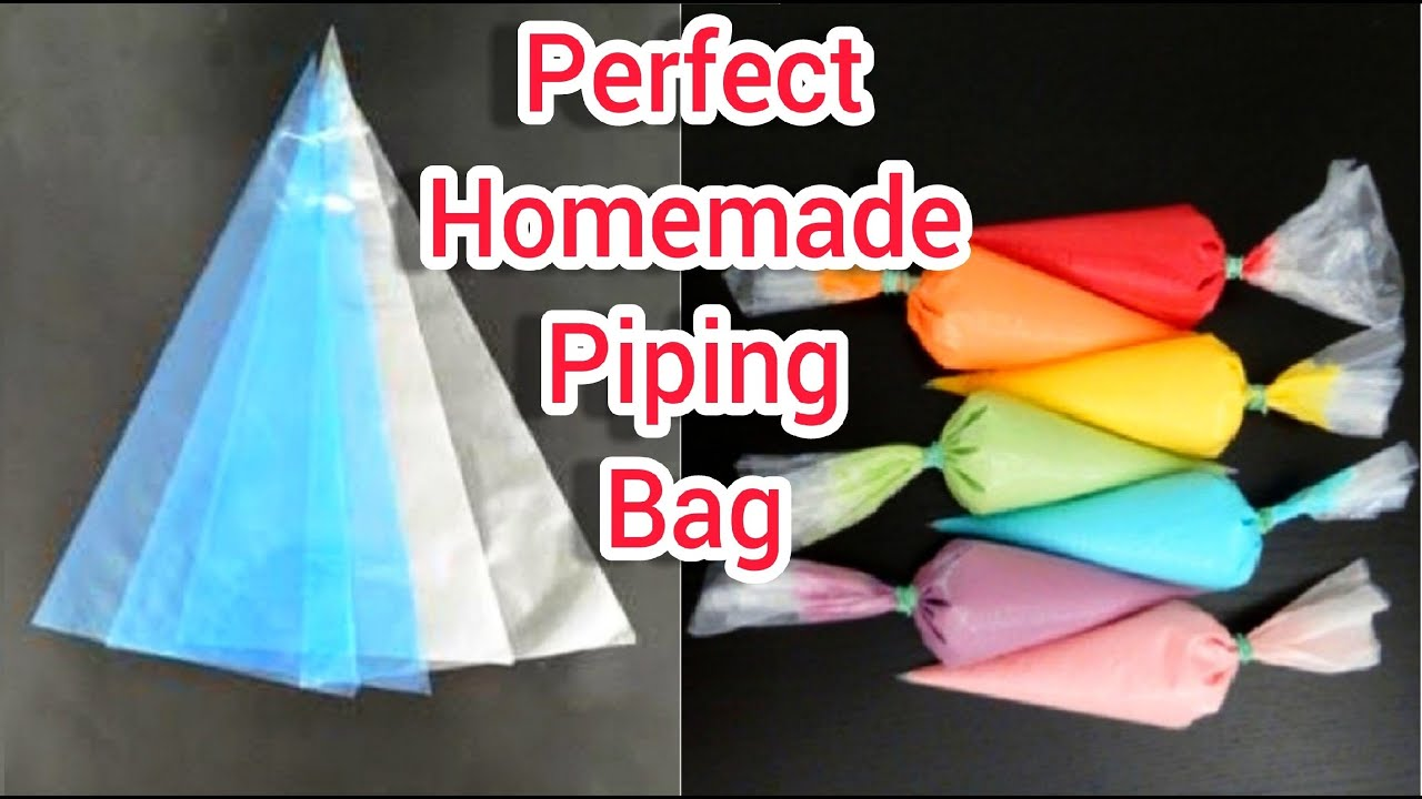 How to make piping bag for cake decoration at home  How to make piping bag  and nozzle at home