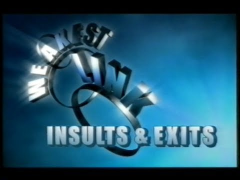 Weakest Link  Insults & Exits 2001