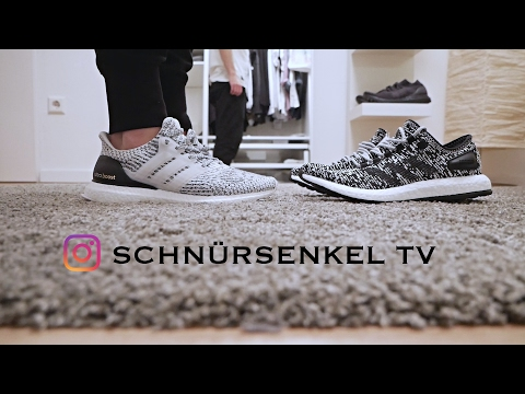 pretty nice 58e9d 57628 adidas ultra boost white oreo zebra 3.0 - pureboost unboxing review on feet  sneakerporn video