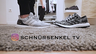 18bf5f1a6a3a2 adidas ultra boost white oreo zebra 3.0 - pureboost unboxing review on feet  sneakerporn video
