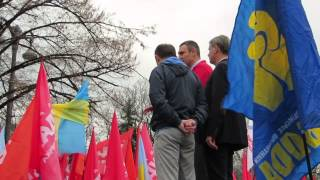 Vitali Klitschko at Opposition Rally Outside Verkhovna Rada (1/4)