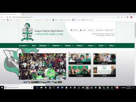 2 -  Navigating the Tampa Catholic High School Website