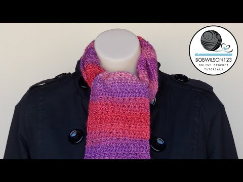 Youtube Crocheting Scarves : ... Scarf or Afghan Crochet Tutorial - Morris & Sons, Sydney - YouTube