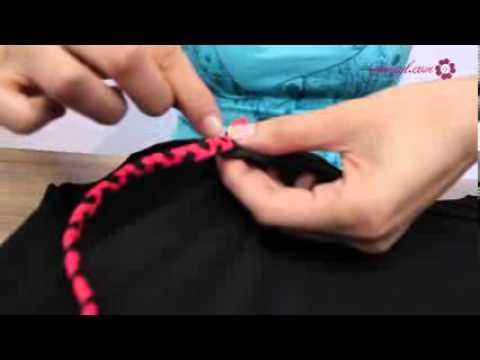 Tự chế chiếc váy đầm hồng đen ngộ nghĩnh - YouTube.flv