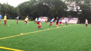 Soccer Team defending