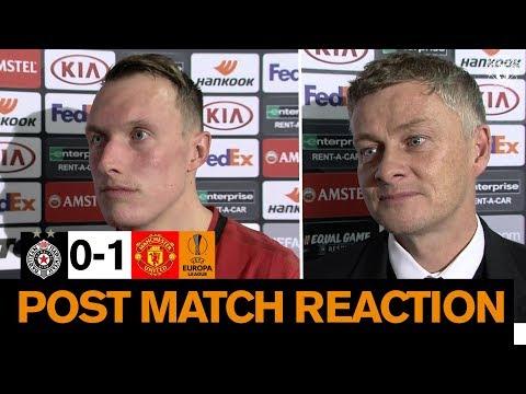 Solskjaer & Jones reflect on Manchester United win over Partizan Belgrade | Europa League
