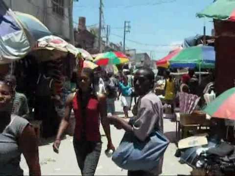 Strolling thru the Iron Market in Port-au-Prince, Haiti