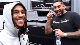 Rappers Young Adz, LB and Not3s Collect Their Secretly Wrapped Cars