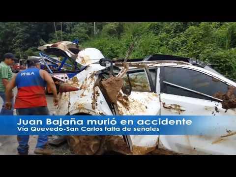 Accidente en vía Quevedo San Carlos deja un fallecido, Juan Bajaña