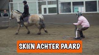 BRITT SKIET ACHTER EEN PAARD⛷ | PaardenpraatTV