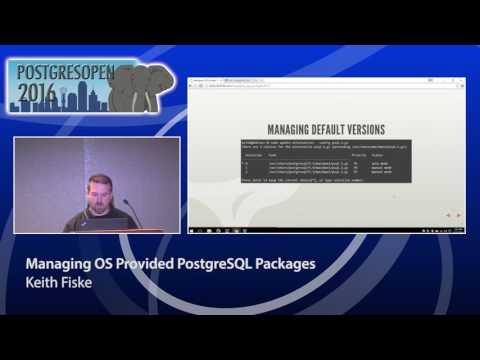 Managing OS Provided PostgreSQL Packages