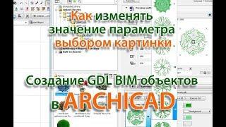 создание GDL BIM объектов  в ARCHICAD: Как изменять  значение параметра  выбором картинки