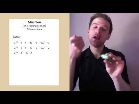 Miss You, Rolling Stones harmonica lesson on D harmonica