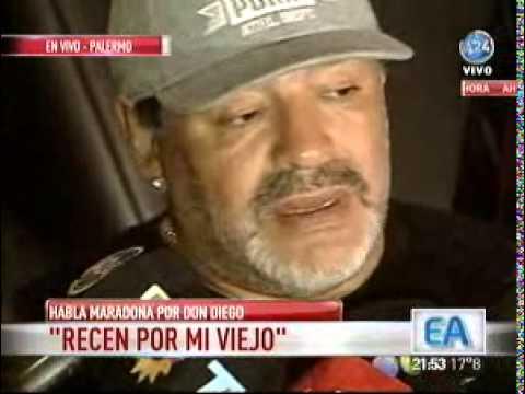 Maradona: Con la ayuda de Dios y Francisco, mi viejo va a salir