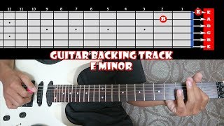 HARD ROCK Limited Edition Guitar Backing Track In E Minor | 115 BPM