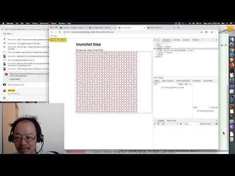 xah talk show 2019-07-08 live coding JavaScript truchet tiles (geometry) thumbnail