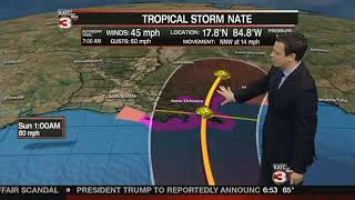 Tropical Storm Nate Friday Updates