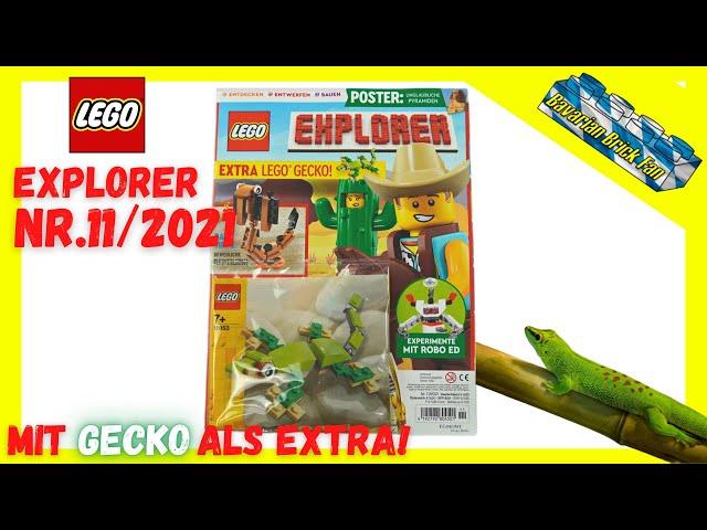 LEGO Explorer Magazin Nr.11/2021 mit Gecko (11953) als Extra | Review & Unboxing