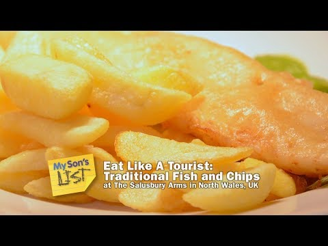 Eat Like A Tourist:  Fish And Chips In North Wales (UK) At The Salusbury Arms