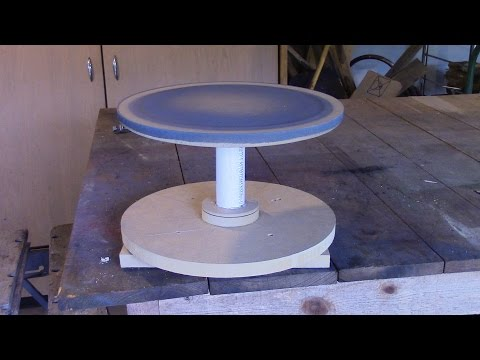 Lazy Susan Painting Table
