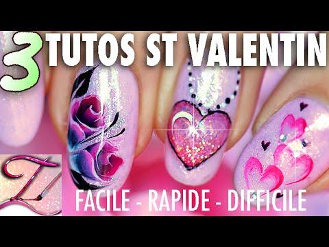 3 tutos nail art sp cial st valentin facile expert et - Beau maquillage facile a faire ...