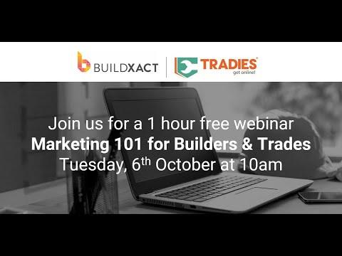Webinar: Marketing 101 For Builders & Trades