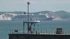 NOW ITS 6 CRUISE SHIPS IN WEYMOUTH BAY