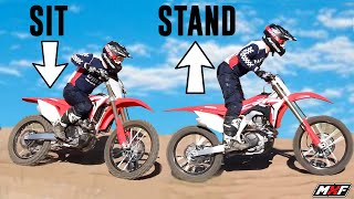 You NEED to Perfect This Motocross Technique  - Sitting to Standing Transition