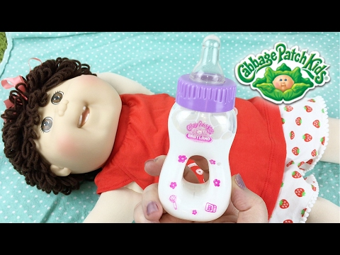 Babyland Exclusive Cabbage Patch Kid Olive Changing & Modified Magic Bottle