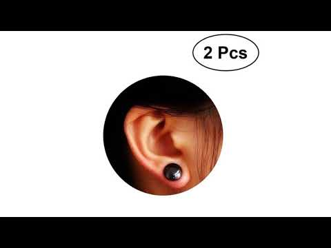 1 Pair of Women Girls Bio Magnetic Slimming Healthcare Ear Stickers Earrings Acupoints Loss Weight W