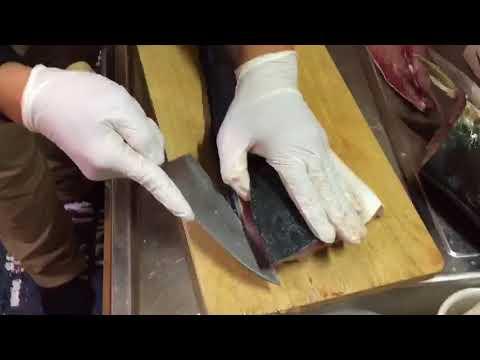 【魚調理編】パパっとハマチを三枚におろす【兜割り・カマ処理】