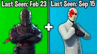 5 RAREST LEGENDARY SKINS in Fortnite Battle Royale! (Fortnite Rare Skins)
