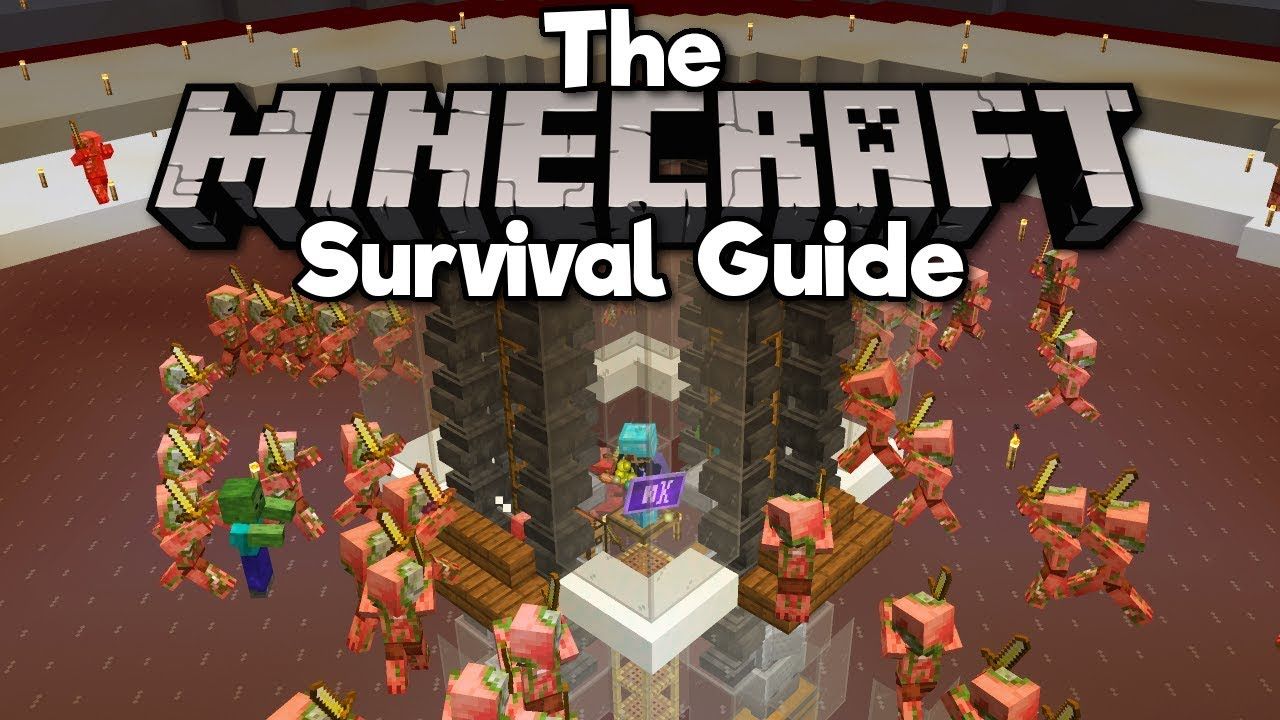 1 14 Zombie Pigman Gold Farm, Pt 2! ▫ The Minecraft Survival Guide  (Tutorial Lets Play) [Part 197]