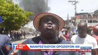 André Michel kite Sen Domeng poul vin nan manifestasyon opozisyon an 18 me, malgre krab la pat gra