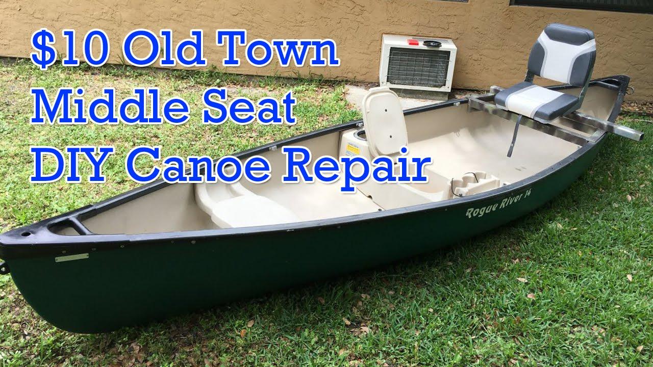 $10 DIY Old Town Canoe Middle Seat Rivet Repair