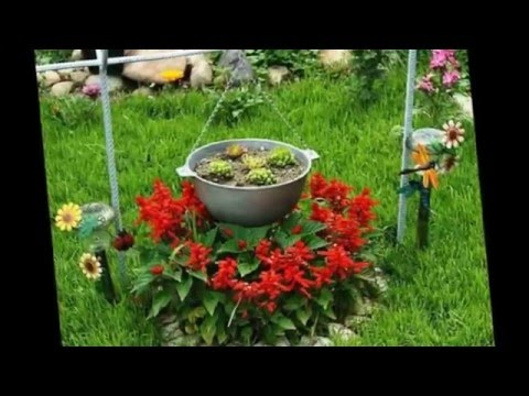 Маленькие клумбы в дизайне сада  Оформление клумб своими руками