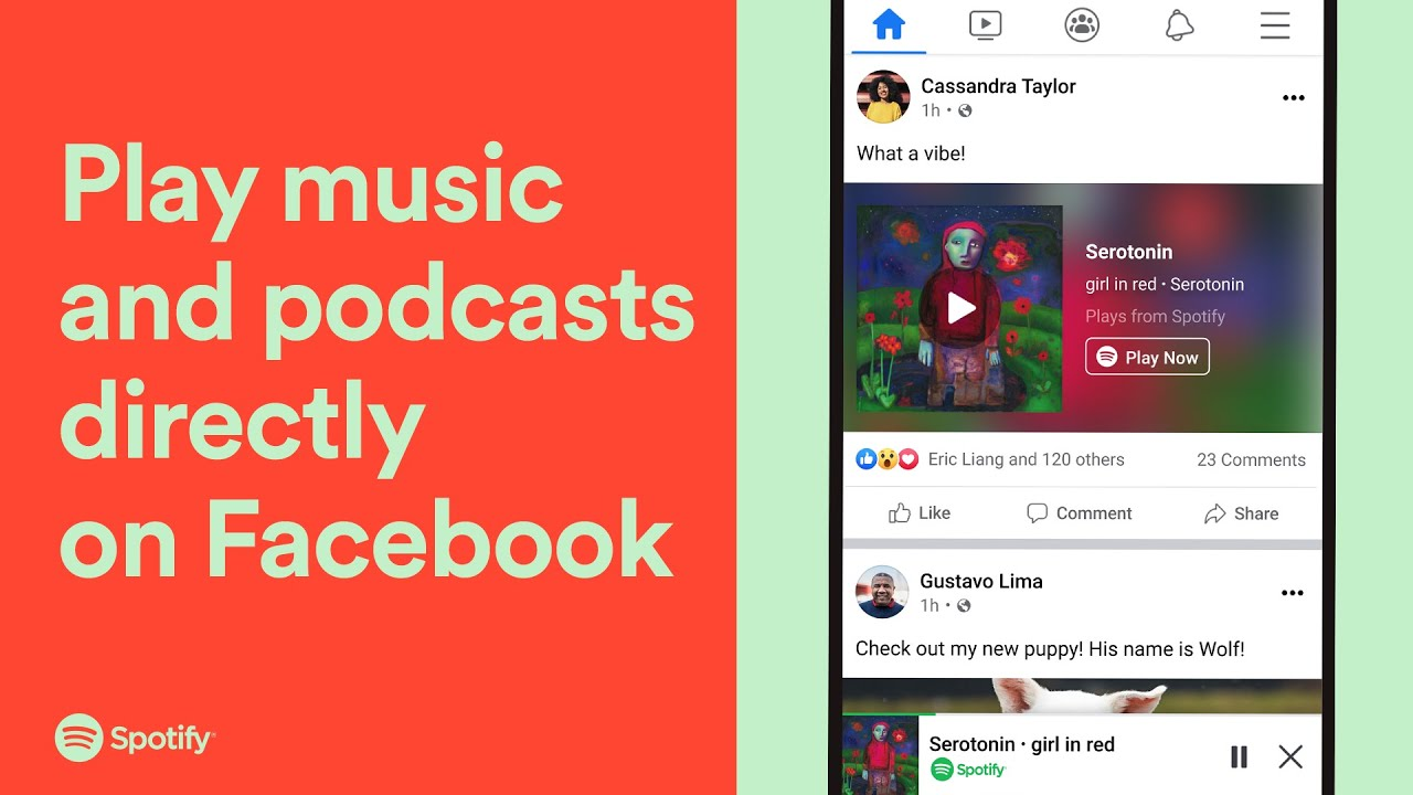 Here's how to play Spotify directly in Facebook mobile app