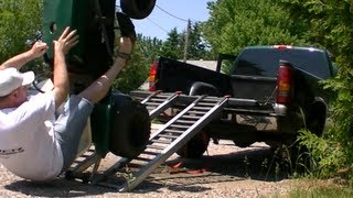 how not to load your lawn tractor fail