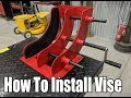 Redline Industrial Motorcycle Wheel Vise Install & Test
