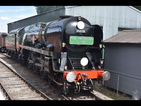 Merchant Navy Class No 35028 Clan Line hauled the Waterloo Sunset on 9th July 2017