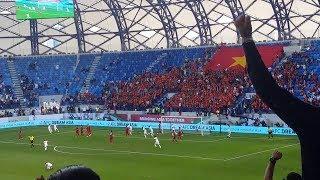 Việt Nam vs Jordan góc quay cực đẹp từ trên khán đài xem hoài không chán
