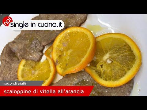 Scaloppine di vitella all'arancia