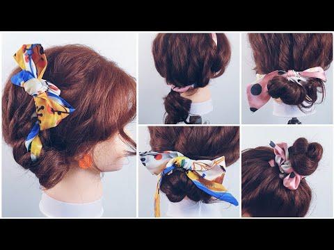 스카프로  쉽고,  빠르고, 이쁘게, 셀프헤어 같이해요  easy hairstyle   😘Scarf Hairstyle thumbnail