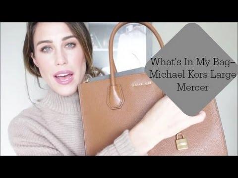 4b1a63013da9 What s In My Bag ~~ Michael Kors Mercer Bag - YouTube