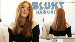 CUTTING MY OWN HAIR! | BLUNT CUT | MsRosieBea