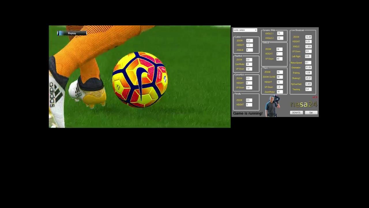 PES2017 Roma vs Bologna (camera & audio tools by nesa24)