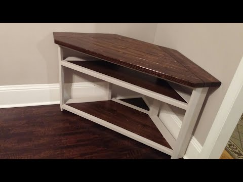 How to make a rustic corner tv stand
