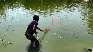 Net Fishing | Catching Fish With Cast Net | Net Fishing in the village (Part-268)