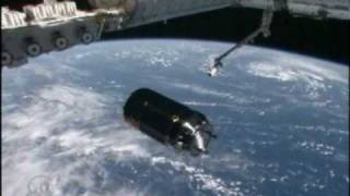 HTV-1 Rendezvous and Berthing (time lapse)
