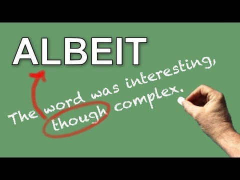 Learn English Words - ALBEIT - Meaning, Vocabulary with Pictures and Examples